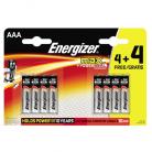 Energizer Max AAA LR03 Alkaline Batteries 4+4 Free Promo Pack