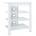 De Conti ARCAXL Large 4 Shelf Hi-Fi Stand in Arctic White (500mm Shelf Depth)