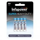 Infapower B752 4 x AA Super Heavy Duty Batteries