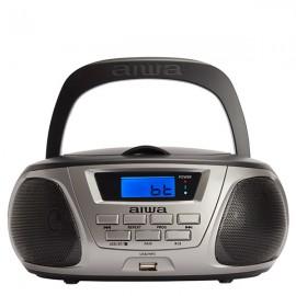 AIWA BBTU300-BK Portable CD/MP3/USB/FM Radio with Bluetooth - Black