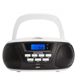 AIWA BBTU300-BW Kids Edition Portable CD/MP3/USB/FM Radio with Bluetooth