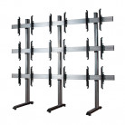 B-Tech System X Universal Video Wall Stand for 3x3 Video Walls, Screens 46 - 60