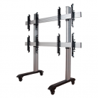 B-Tech System X Universal Mobile Video Wall Stand for 2x2 Video Walls, 46 - 60
