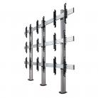 B-Tech System X 3x3 Universal Bolt Down Video Wall Stand, Screens 46 - 60