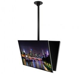 B-Tech Back to Back Flat Screen Ceiling Mount with Tilt for Screens up to 50