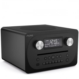 PURE Evoke C-D4 Compact DAB/DAB+ & FM Radio, CD with Bluetooth - Siena Black