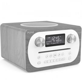 PURE Evoke C-D4 Compact DAB/DAB+ & FM Radio, CD with Bluetooth - Grey Oak