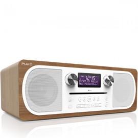 PURE Evoke C-D6 Stereo DAB/DAB+ & FM Radio, CD with Bluetooth - Walnut