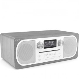 PURE Evoke C-D6 Stereo DAB/DAB+ & FM Radio, CD with Bluetooth - Grey Oak