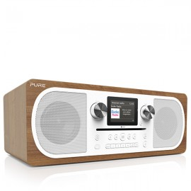 PURE Evoke C-F6 Stereo DAB/DAB+, Internet & FM Radio with CD/Bluetooth - Wood