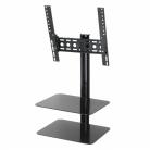 AVF ESL422B Tilt & Turn TV Wall Mount with AV Shelving for Screens Up To 47
