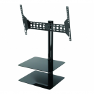 AVF ESL822B Tilt & Turn TV Wall Mount with AV Shelving for Screens Up To 60