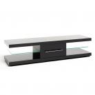 Techlink Echo XL Glass TV Unit with Storage - Black