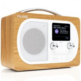 PURE Evoke H4 Prestige Edition DAB/DAB+ & FM Radio with Bluetooth - Oak