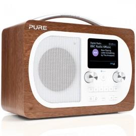 PURE Evoke H4 Prestige Edition DAB/DAB+ & FM Radio with Bluetooth - Walnut