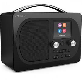 PURE Evoke H4 Prestige Edition DAB/DAB+ & FM Radio with Bluetooth - Black