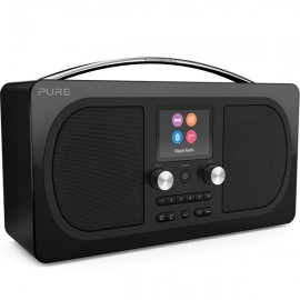 PURE Evoke H6 Prestige Edition  DAB/DAB+ & FM Radio with Bluetooth - Black