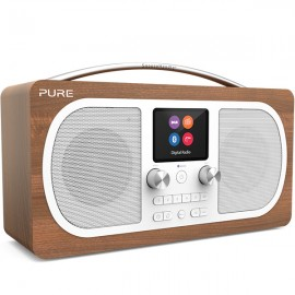 PURE Evoke H6 Stereo  DAB/DAB+ & FM Radio with Bluetooth - Walnut