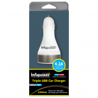 Infapower P020 4200mA Triple USB Car Charger