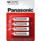 Panasonic PANAR6RB4 AA Zinc Batteries 4 Pack