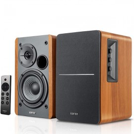 EDIFIER's NEW R1280DBs Active BT v5.0 Bookshelf Speakers with Sub Out - Maple