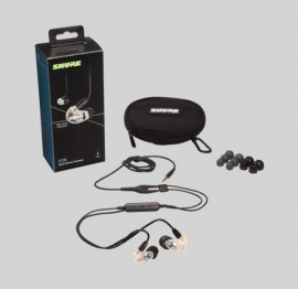 NEW Shure SE215-CL+UNI Clear, Remote and Mic for IOS & Android 3.5mm Jack
