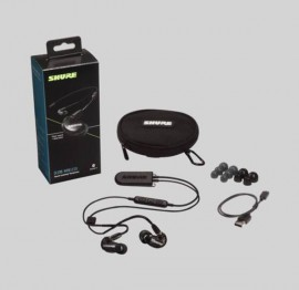 NEW Shure SE215-K+BT2 Black, Bluetooth 5.0 with Remote & Mic