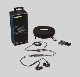 NEW Shure SE215-K+UNI Black, Remote and Mic for IOS & Android 3.5mm Jack