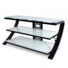 De Conti Sette TV Stand - Black with White Glass