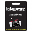Infapower T002 2 x AAA 2.4v 600mAh Cordless Telephone Battery