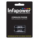 Infapower T005 2 x 2/3 AAA 1.2v 400mA Cordless Telephone Battery