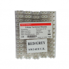 Red/Grey 3Amp Terminal Blocks - 10 Strips Of 12