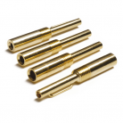 TP-22 Gold 4mm Plug with Crimp Fixing