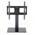 TTAP TT44F Universal Black Glass Pedestal TV Stand for up to 55""