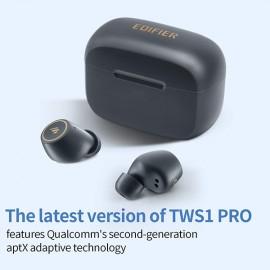 EDIFIER TWS1 Pro NEW Upgraded TWS1 Earbuds - Dark Grey