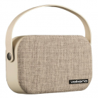 Volkano VK3020 Fabric Series Bluetooth Speaker with Fabric Trim - Light Grey
