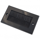 WPB100B Black Double Flush Outlet with Black Brushes