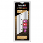 Infapower 4 Gang Surge Protected Extension Lead - 2m