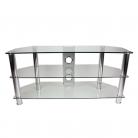 TTAP CC303/1050 Classik TV Stand - Clear Glass & Chrome