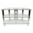 TTAP CC303/800 Classik TV Stand - Clear Glass & Chrome
