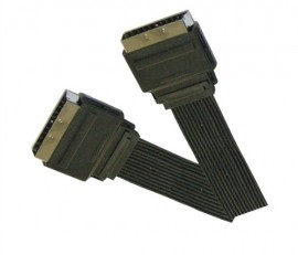 Scart Plug to Scart Plug Ribbon Cable - 0.75m (0.75m - 1.5m lengths available)